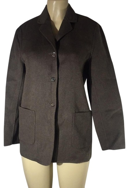 Item - Chocolate Gray 3 Button Wool Blazer Size 8 (M)