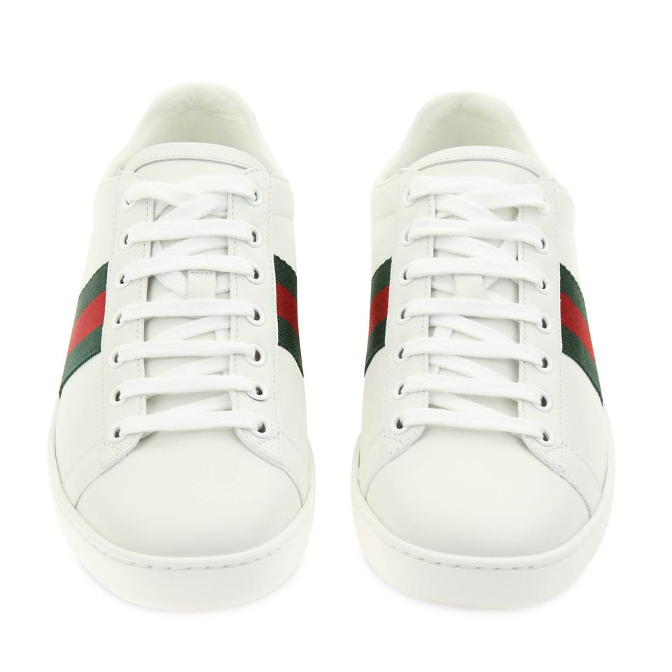 200c8e2f8 Gucci White Ace Leather Sneakers Size EU 38.5 (Approx. US 8.5 ...