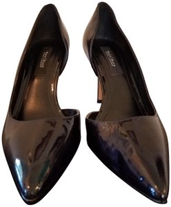 White House | Black Market Black patent Pumps