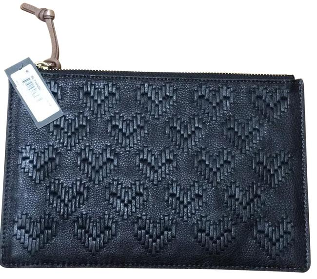 Item - Large Pouch Black Soft Leather Clutch