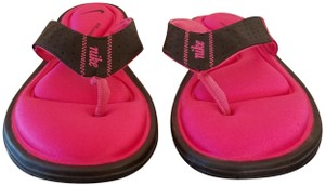 Nike Pink and black Sandals