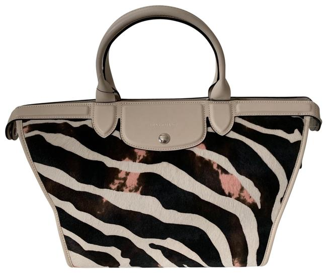 Item - Heritage Luxe Le Pliage Multicolor Pony Hair Tote