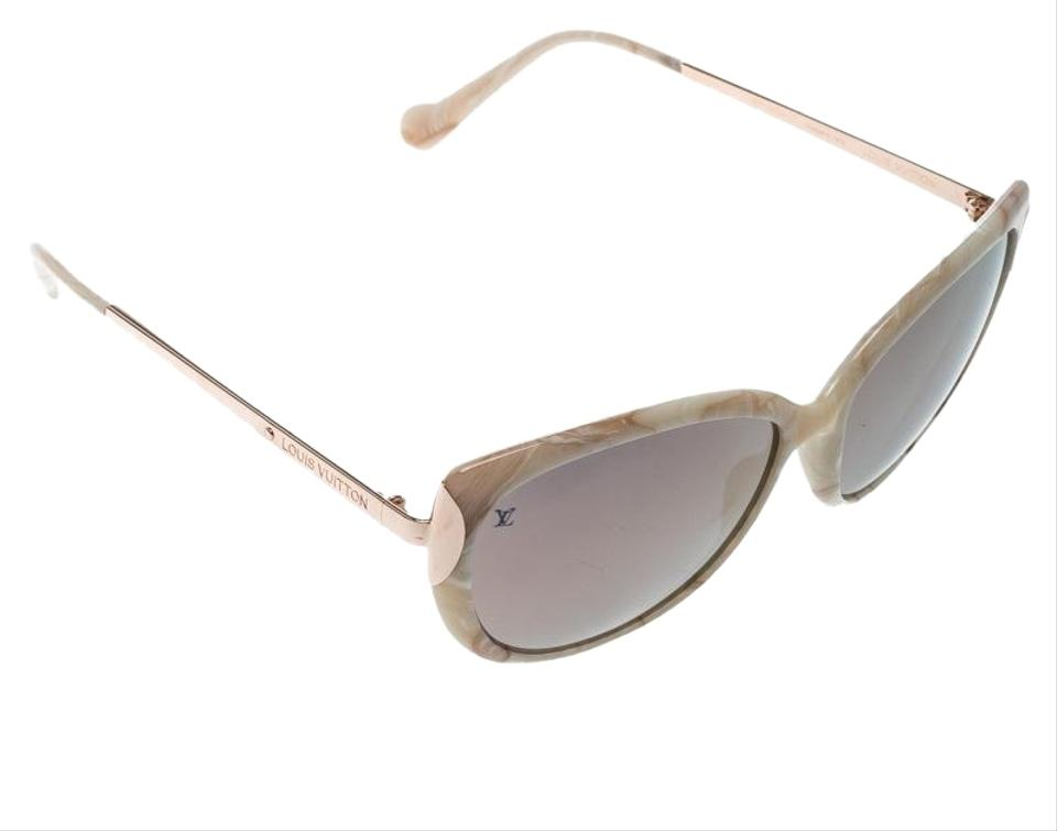 884df5aec228 Louis Vuitton Marble/Rose Gold Mirrored Z056W Cat Eye Sunglasses Image 0 ...