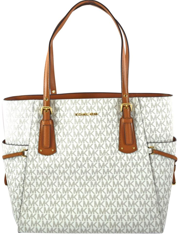 db21903be978 Michael Kors Voyager Vanilla Faux Leather Tote - Tradesy