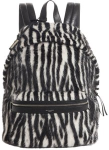 Saint Laurent City Zebra Alpaca Wool Backpack