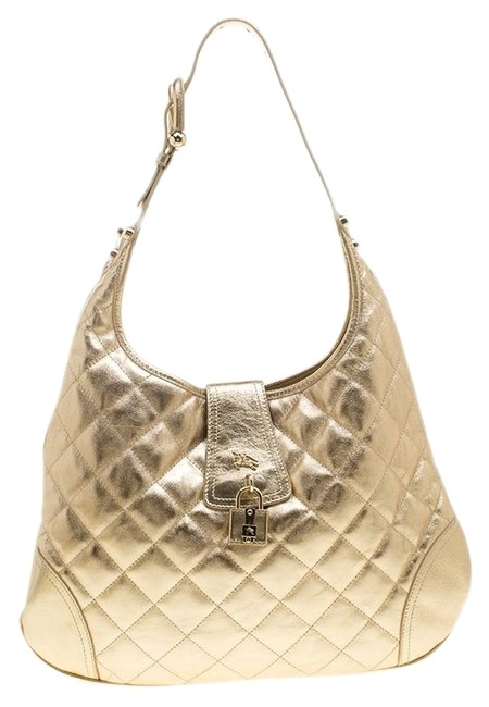 Item - Quilted Brooke Gold Leather Hobo Bag