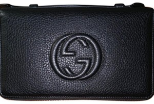 f71c1bd6189d Gucci Brushed Gold Soho Double Zip Travel Wallet - Tradesy