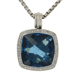 David Yurman Hampton Blue Topaz & Diamond David Yurman Enhancer Necklace E1889