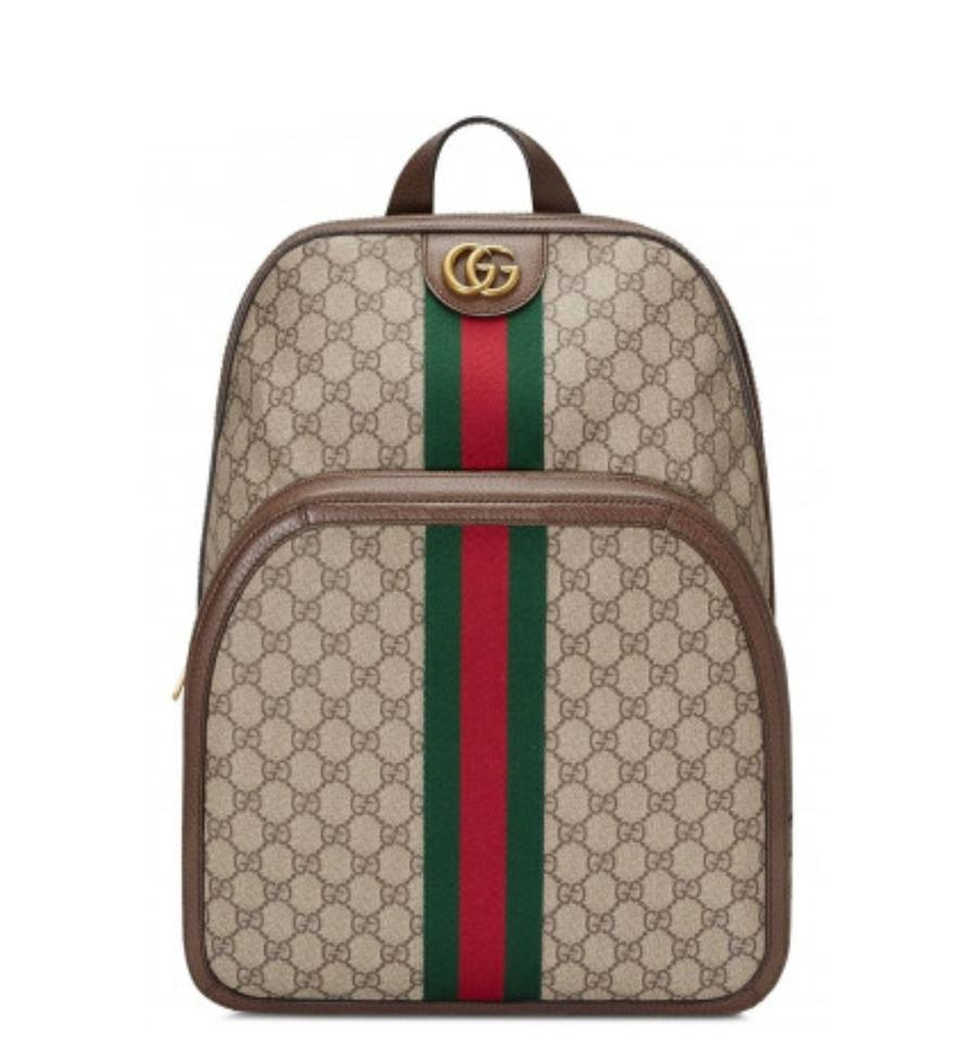 Gucci New Ophidia Gg Medium Beige Leather Backpack - Tradesy 3b8b46bde9be0