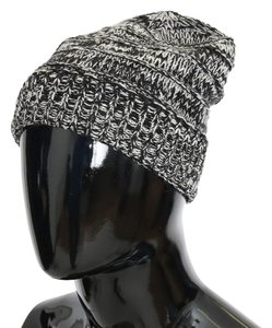 Dolce&Gabbana D70001 Gray White Wool Winter Beanie (One Size)