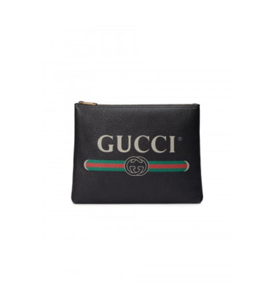46fb0c5b458 Gucci Black New Print Medium Portfolio Wallet - Tradesy