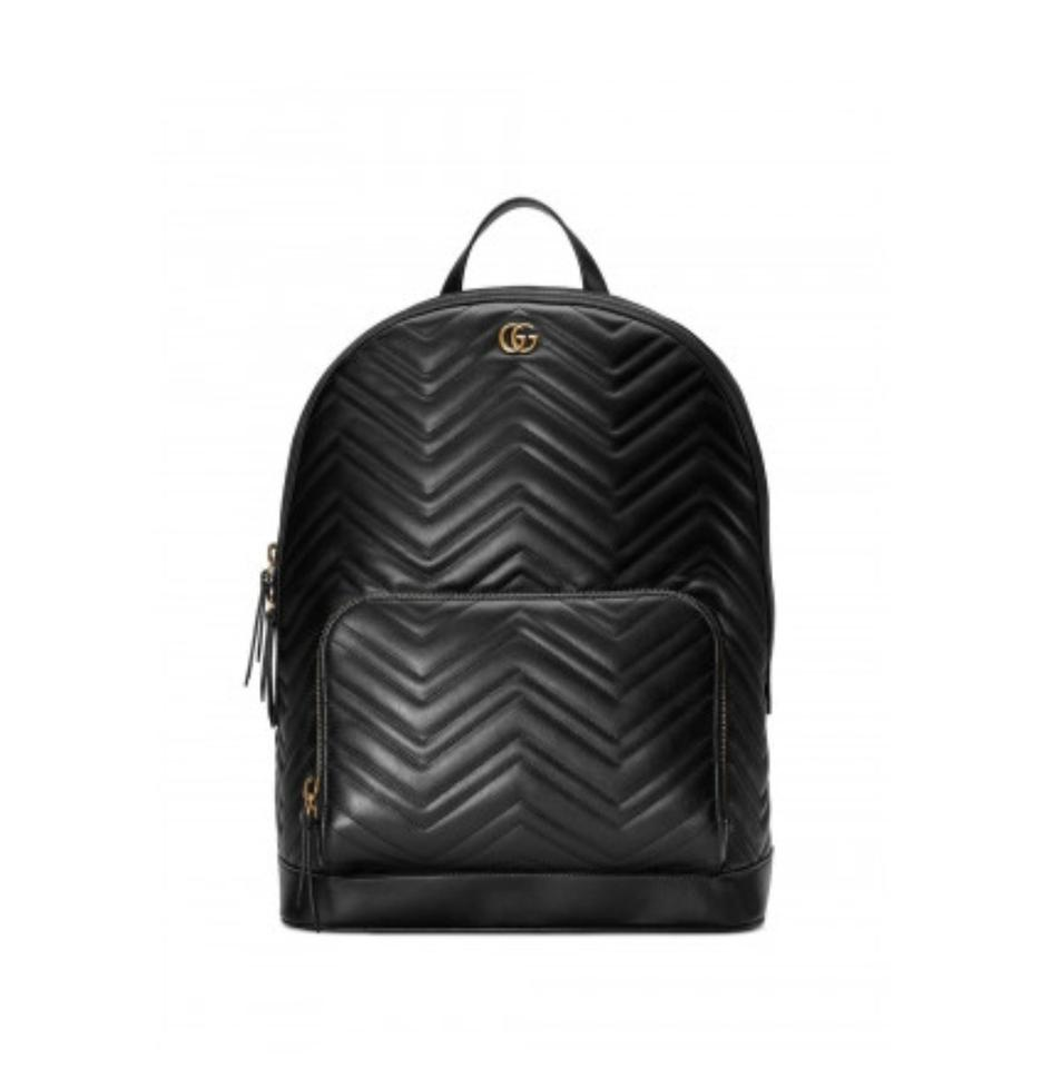 Gucci Marmont New Gg Matelassé Black Leather Backpack - Tradesy 35291a24d0ae9