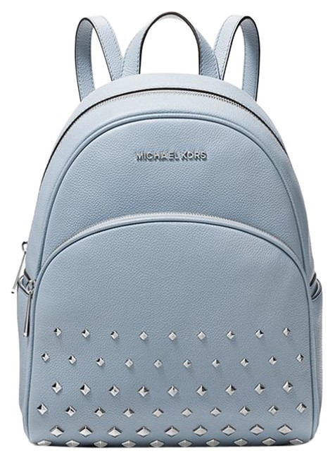 Item - Abbey Studded Blue Leather Backpack