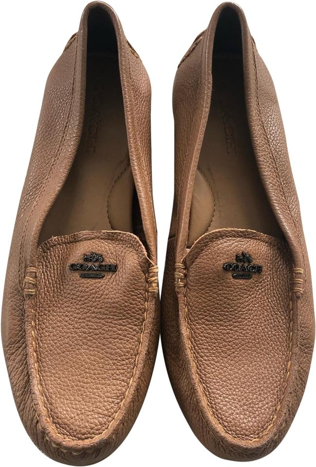 a1e711f6932 Coach Cognac Mary Lock Up Driver Loafer Flats Size US 9 Regular (M ...