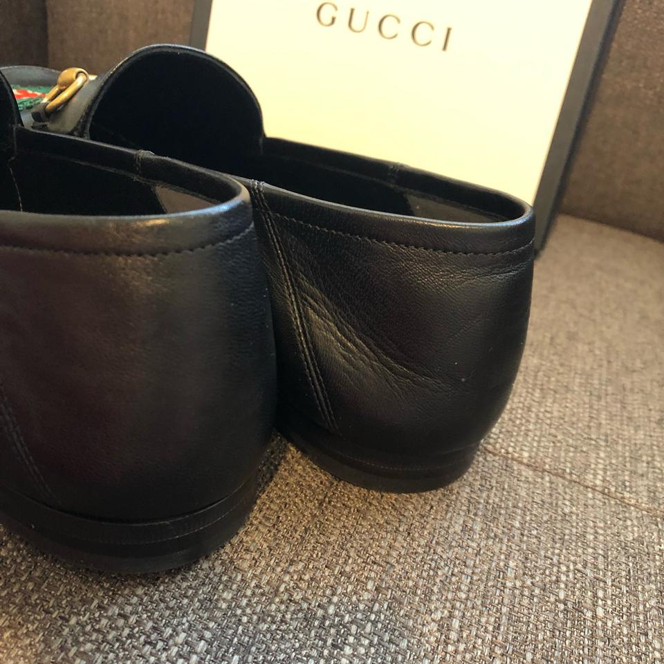 439ccd29116 Gucci Black Horsebit Men s Brixton Panther Embroidered Leather ...