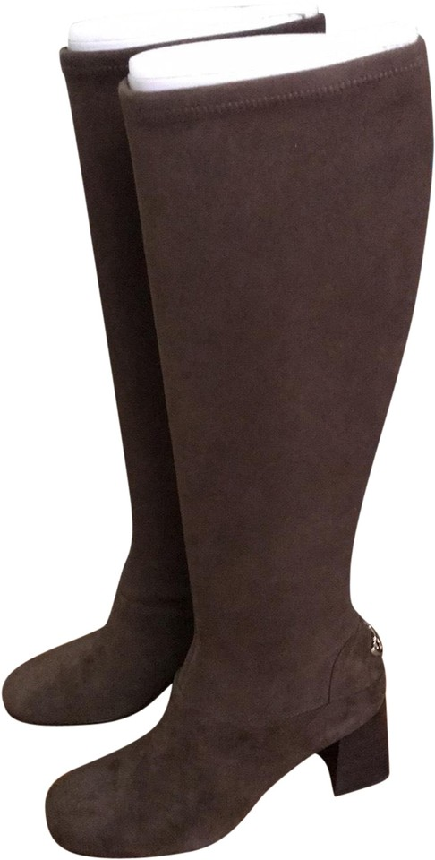 d42add266207 Tory Burch Brown Sidney 70 Mm Sage Boots Booties Size US 7.5 Regular ...