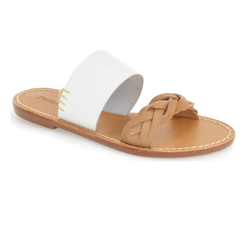 f6b66f2d402 Soludos White and Tan Sandals Size US 9 Regular (M