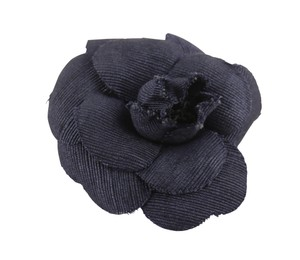 Chanel Chanel Navy Blue Camellia Flower Pin Brooch