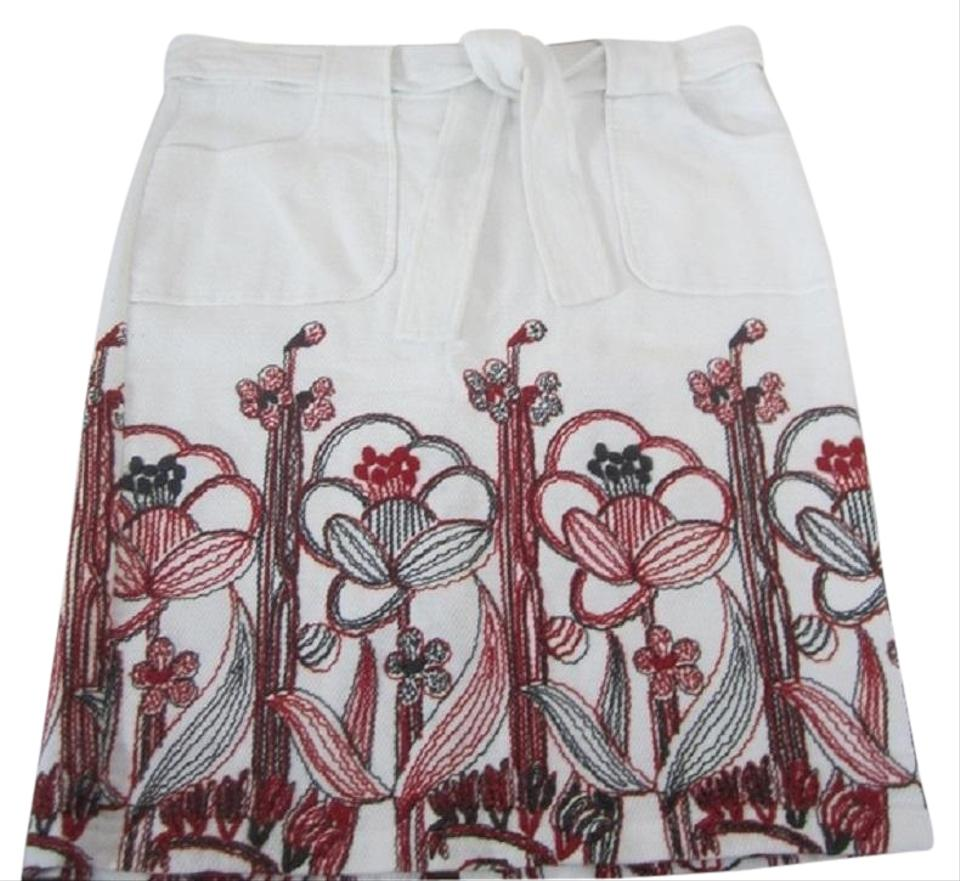 Black Floral Embroidered Skirt Size 12 Women's Clothing