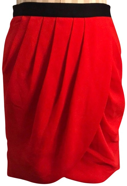 Item - Red Tiered Tulip Skirt Size 2 (XS, 26)