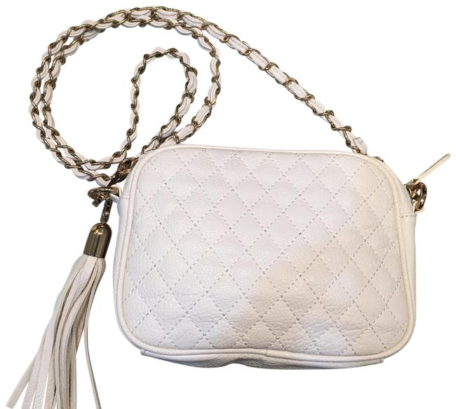 Item - Cream Faux Leather Cross Body Bag