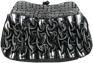 Katherine Kwei Black and Silver Clutch