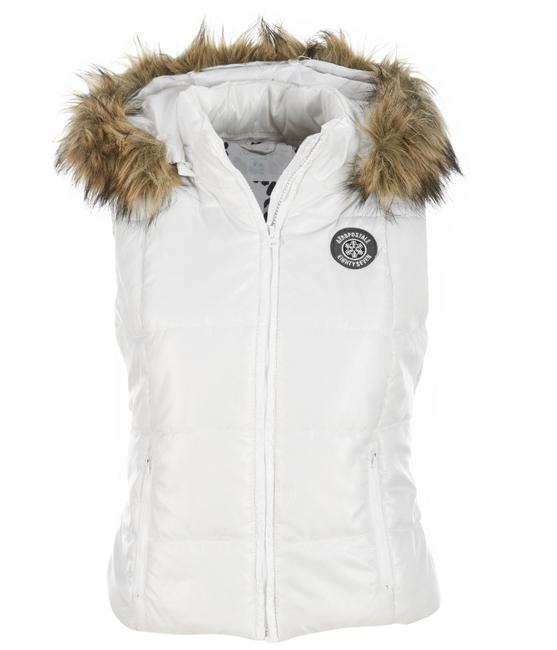Aéropostale White Aero 87 Hooded Puffer Vest Size Petite 2 (XS) Aéropostale White Aero 87 Hooded Puffer Vest Size Petite 2 (XS) Image 1