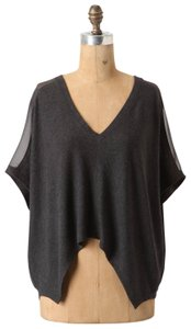 Bordeaux Crop Loose Relaxed Panel Anthropologie Top Gray