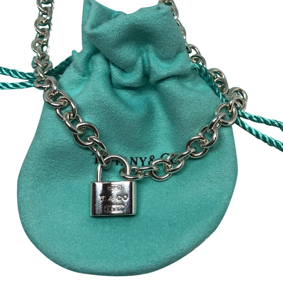 c81541166 Tiffany & Co. Tiffany Sterling 1837 Padlock Charm Chain Link Necklace  46.7grams Image 0 ...
