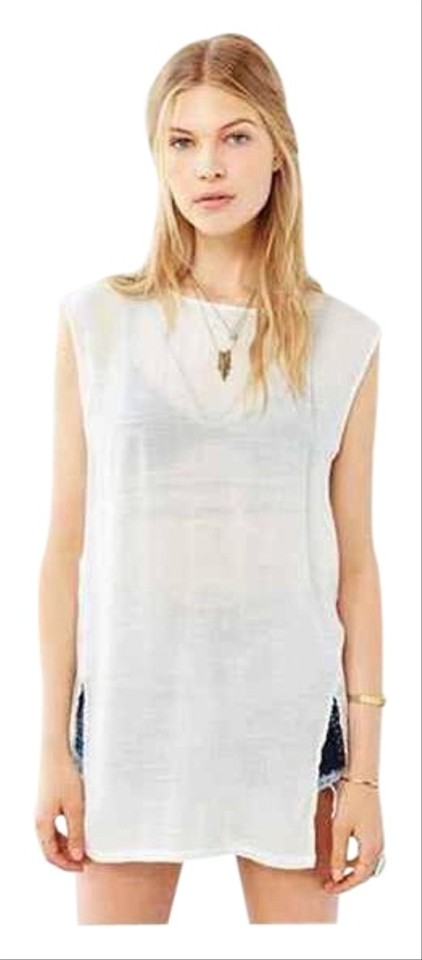 917815f58cee9 Ecote ECOTE URBAN OUTFITTERS BEACHWOOD TUNIC TOP Beach Cover Up Ivory XS  Image 0 ...