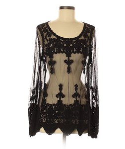 Rock and Roll Cowgirl Crochet Mesh Lace Tunic