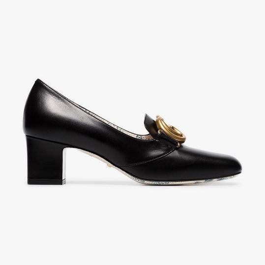 4dfec625f Gucci Double G Leather Mid Heel Pumps Size EU 37.5 (Approx. US 7.5 ...
