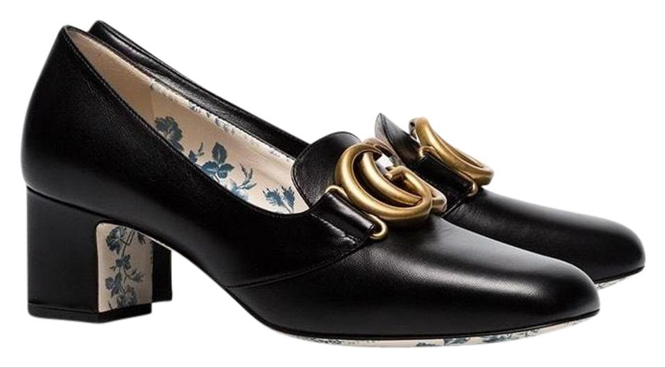 1c232d6ebd Gucci Double G Leather Mid Heel Pumps Size EU 38.5 (Approx. US 8.5 ...