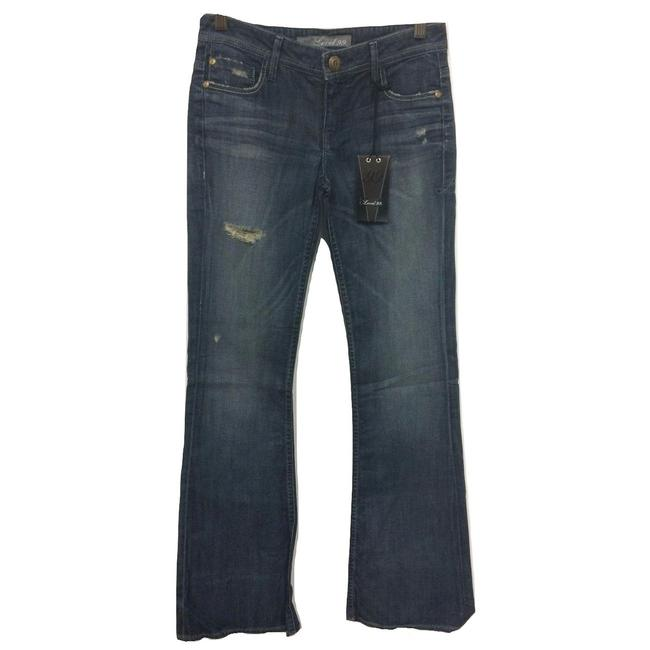Item - Blue Distressed Chicago Denim Flare Leg Jeans Size 26 (2, XS)