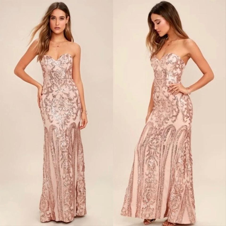 6e7c02f90577 Rose Gold Long Evening Dresses