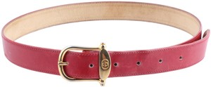 Gucci Gucci Red Leather Trouser Belt