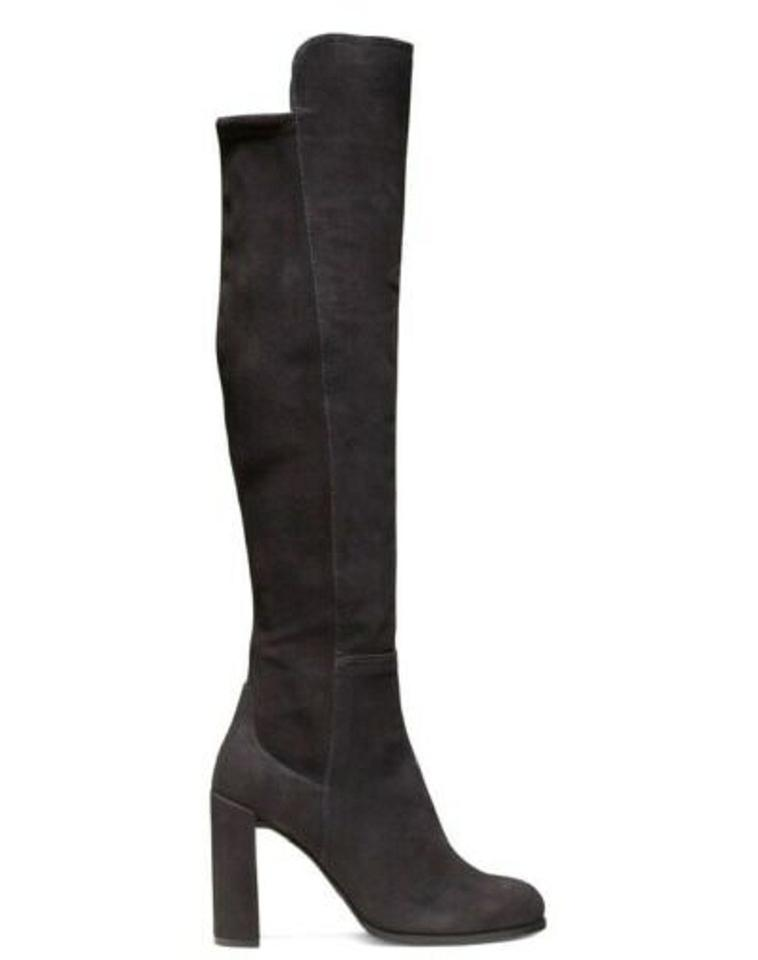 c48a2ce6225 Stuart Weitzman Anthracite Women s Alljill Suede Over-the-knee Boots Booties