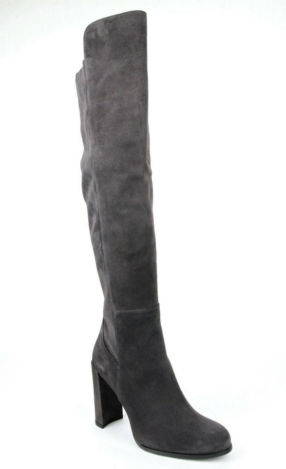 f28f07df7bf Stuart Weitzman Women s Alljill Suede Anthracite Boots Image 8. 123456789