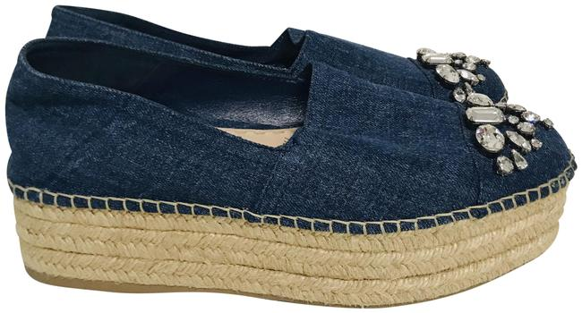 Item - Blue Round-toe Espadrilles Platforms Size EU 40.5 (Approx. US 10.5) Regular (M, B)