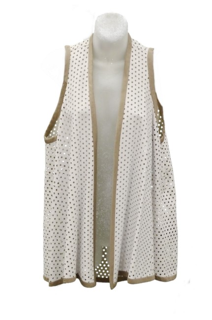 Item - White Perforated Leather Vest Size 8 (M)