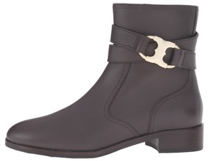 Tory Burch Leather Ankle Coconut Brown Boots