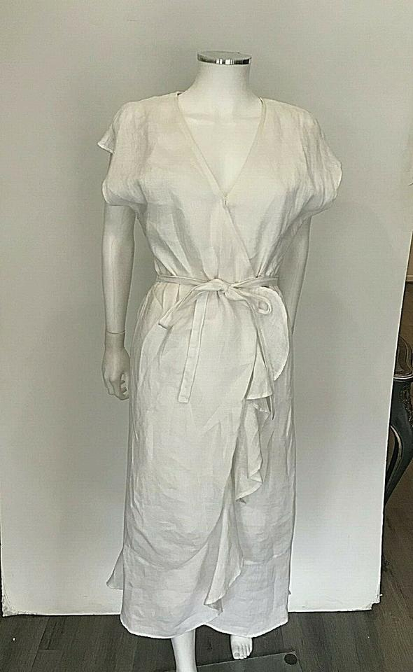7ddff43002 Joie White Filma Linen Cut Out Back Belt Tie Wrap Small Long Casual Maxi  Dress Size 4 (S) - Tradesy