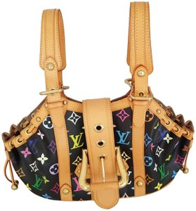 dd7d23a87f3f Louis Vuitton Monogram Theda Never Used Satchel in Black Multi Color