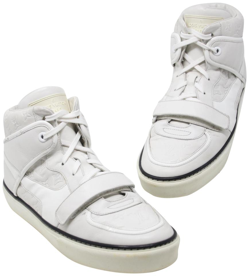 136bf8f87c33 Louis Vuitton Off White Men s Tower Embossed Monogram Motifs Three Leather  Sneakers Sneakers