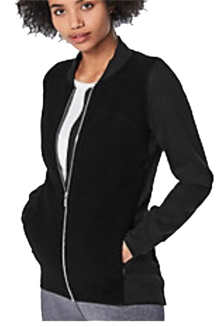 Item - Black Stand Out Sherpa Fleece Activewear Outerwear Size 2 (XS)