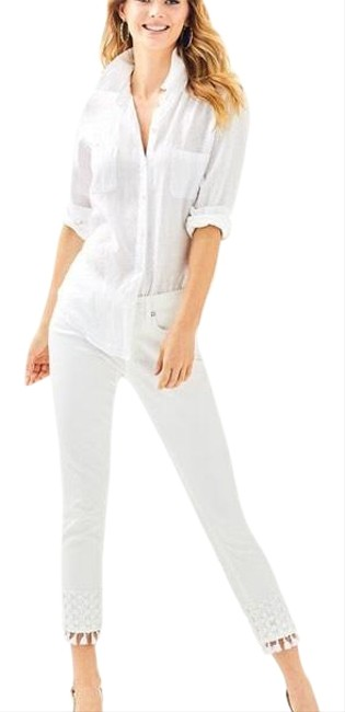Item - White South Crop Skinny Jeans Size 0 (XS, 25)