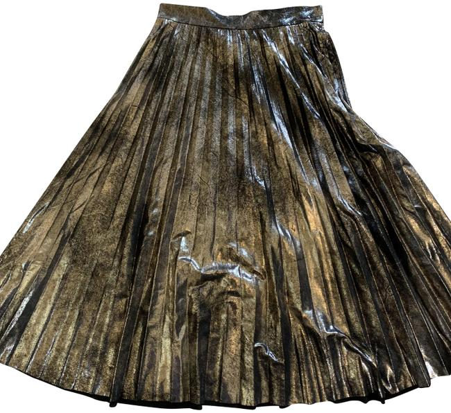 Item - Gold Pleated Skirt Size 2 (XS, 26)