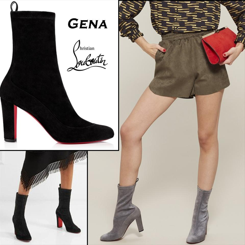 7e0e73180c1 Christian Louboutin Black Gena Synthetic Suede Boots Booties Size EU 36  (Approx. US 6) Regular (M