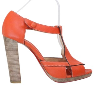 8504f47e2f6 Christian Louboutin Orange Leather Pumps Size EU 39.5 (Approx. US ...