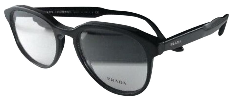 23bfcc9895a86 Prada New PRADA JOURNAL Eyeglasses VPR 18S 1AB-1O1 Shiny Black Frame 53-19  ...